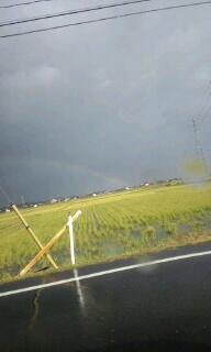 すごく不安定な天気ですね〜(;_;)でも虹が!