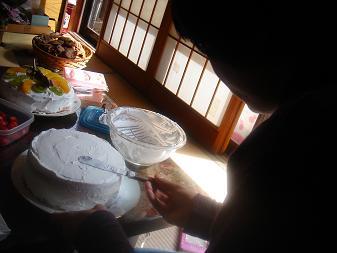ケーキは手作りです。