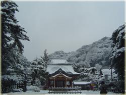 雪の鶴岡八幡宮。