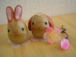 桜うさぎ2