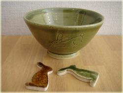 スタジオMさんのウサギ茶碗
