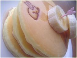 うさぎのホットケーキ