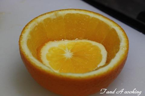フルーツアート オレンジ 皮