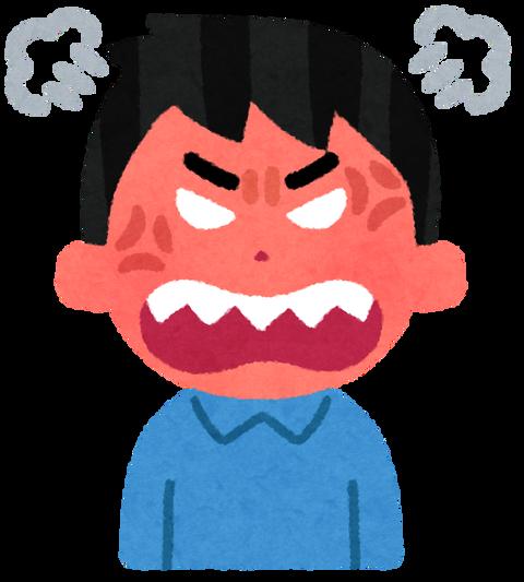 怒る イラスト 男性