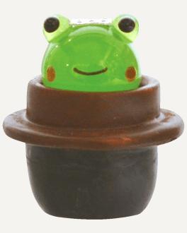 かわいい カエル 手作り ガラス細工 五右衛門風呂 カエル CYK1748