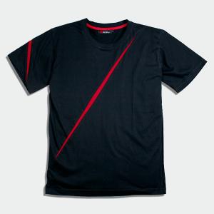 (サムライワークス) SAMURAI WORX 袈裟斬り切替 メンズTシャツ ブラック (XL)