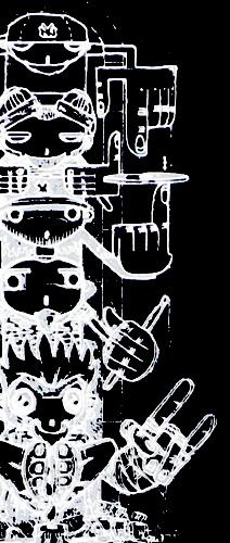 ロックTシャツ Limp Bizkit リンプ ビズキット トーテムポール Lサイズ ブラック 【1点】