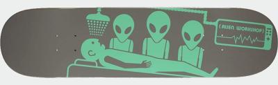 ALIEN WORKSHOP(エイリアンワークショップ) スケートボード デッキ ABDUCTION GREY/MINT GREEN DA069 (8.0 x 31.625)