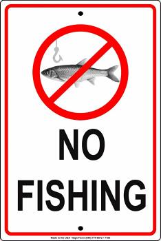 No Fishingアルミニウムメタルサイン 8