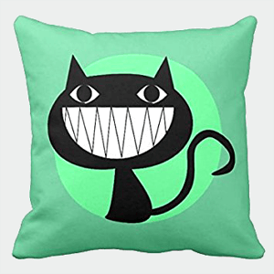 【Koana Shop】クッションカバー 45x45cm の装飾用クッションをにやにや笑うこと 抱き枕カバー車 ソファ 部屋 ベッド インテリア 枕 にも