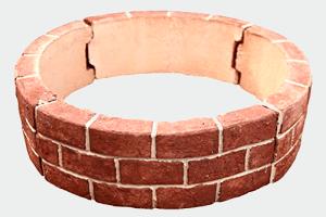 花壇 材 レンガ風 ブロック サークル 囲い 仕切り 土留め 【 直径550mm 円形 アール セット】 置くだけ 簡単 DIY