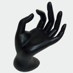 WAIWAIGOODS 指輪 ディスプレイ スタンド すり ガラス 調 ハンド トルソー (ブラックB)