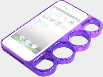 iPhone SE 5S 5 メリケンサック カイザーナックル ケース カバー パープル