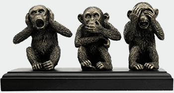 Veronese (ヴェロネーゼ) 三猿 見ざる 言わざる 聞かざる ブロンズ風 フィギュア