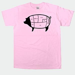 幸服屋さん お肉の部位シリーズ 豚肉部位 Tシャツ(半袖) AM63 140 ピーチ