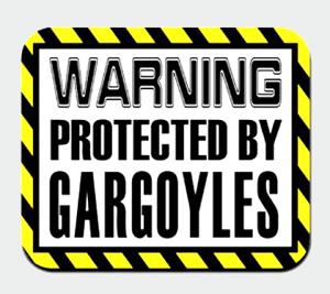 警告ガーゴイルで保護マウスパッド