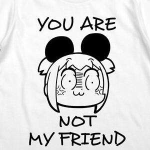 ポプテピピック ポプ子のけものTシャツ ホワイト Sサイズ