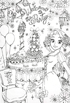 ポストカード 塗り絵 ディズニープリンセス Princess Party