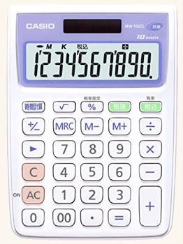 カシオ 抗菌電卓 ミニジャストタイプ 10桁 MW-102CL-N