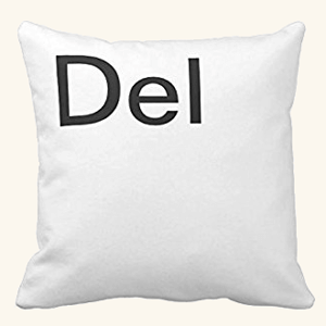 Ctrl Alt Delete Quote装飾枕カバー18x 18キャンバスアクセントジッパーソファのクッションカバー枕カバー