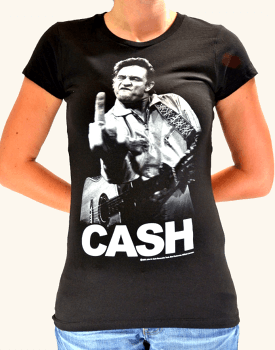 【ノーブランド品】バンドTシャツ ロックTシャツ Johnny Cash ジョニー キャッシュ Sサイズ 黒色