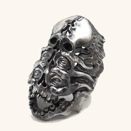 【LegioMade 死の王3 リング】 レギオメイド / シルバーアクセサリーリング / 15 - 25 / シルバーリング / シルバーアクセ / シルバーアクセサリー / シルバー / Silver925 / 銀 / リング / 指輪 / メンズ / ユニセックス / スカル / ガイコツ / 骸骨
