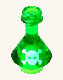 レゴブロック カスタム パーツ フラスコ - 毒薬:[Tr,Green / トランスグリーン] 【並行輸入品】