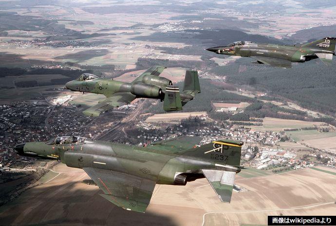F-4G_A-10A_RF-4C_USAFE_in_flight_1987