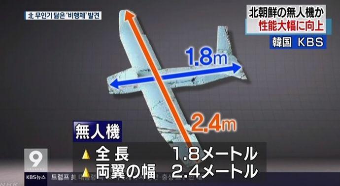 韓国北部で発見の小型無人機、性能が大幅に向上…米国製エンジンを搭載!