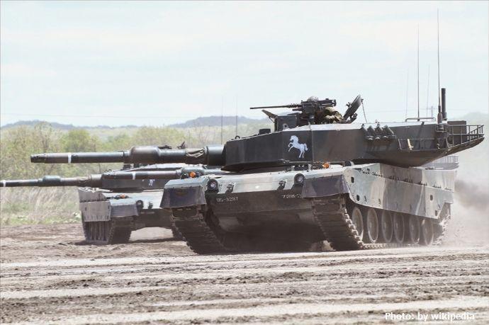 90式戦車(創立記念行事訓練展示・第72戦車連隊)