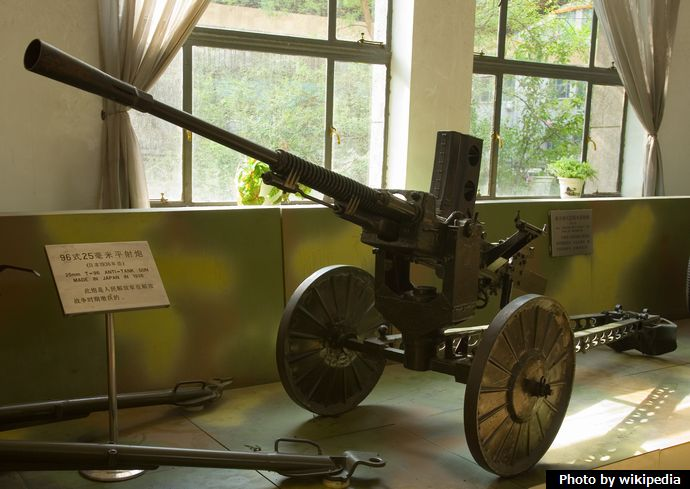 Type_96_Japanese_25_mm_gun_-_Beijing_Museum