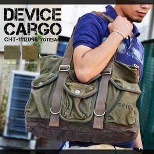 DEVICE Cargo 2way トートバッグ KH/カーキ(CHT-1112098KH)