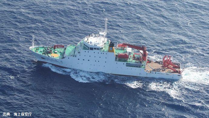 中国海洋調査船が沖縄・波照間島沖で無断海洋調査、船尾からワイヤーを海中に…海保が中止呼びかけるも無視!