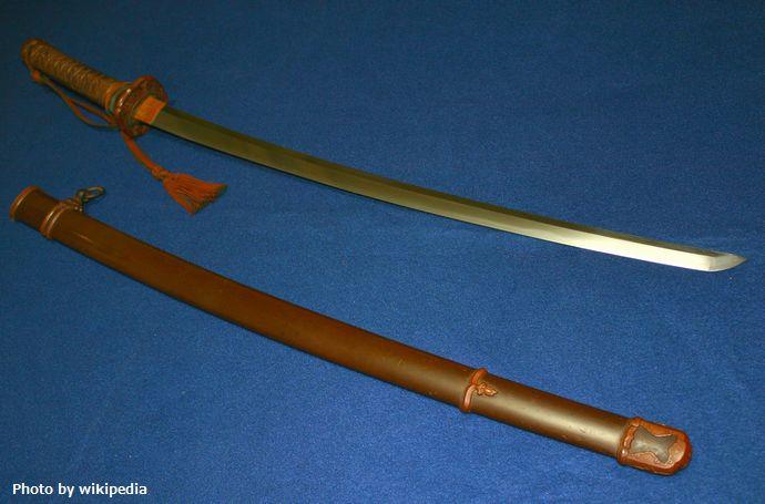 靖国刀(九段刀)刀身と拵え(外装)