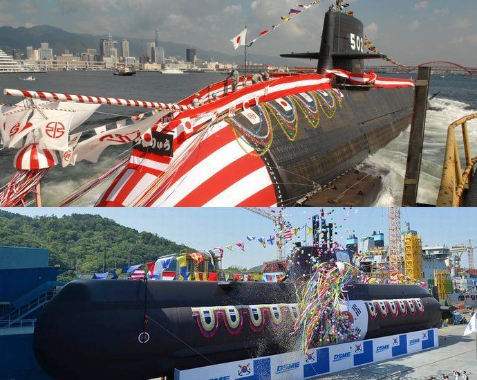 日本と韓国の潜水艦のパワーを比...