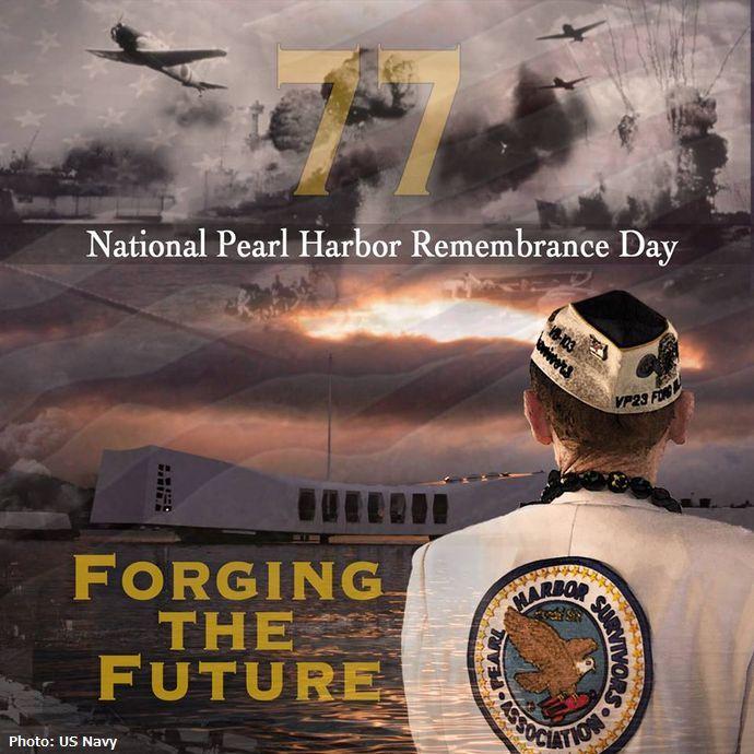 旧日本軍による真珠湾攻撃から77年、ハワイで追悼式典…日米から2500人が出席!