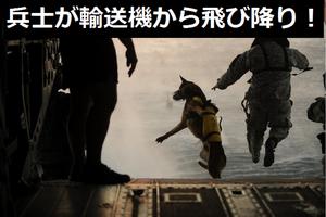 米太平洋空軍横田基地上空で兵士が輸送機から飛び降り!