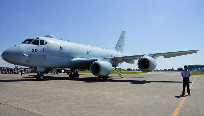 JMSDF_P-1(5503)_in_JASDF_Hamamatsu_Air_Base_20140928-01