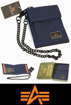ALPHA INDUSTRIES ウォレット AA003 ネイビー コットン 縦型 財布