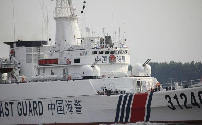 尖閣諸島周辺に中国海警局船、4隻中1隻は機関砲のようなものを搭載…海保巡視船が警告!