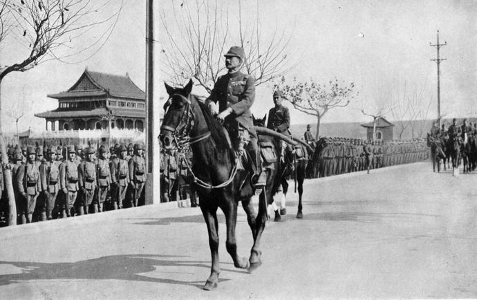iwane_matui_and_asakanomiya_on_parade_of_nanking