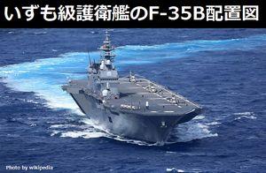 いずも級護衛艦の格納庫に積まれるF-35Bの配置図をご覧ください!