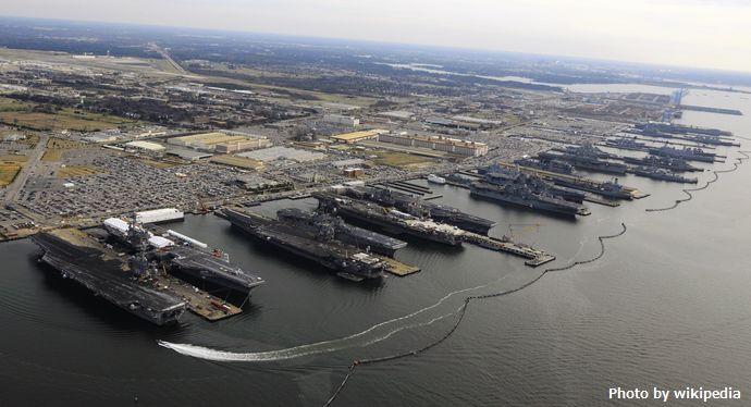 9_Flattops_at_Norfolk_naval_base,_December_20,_2012
