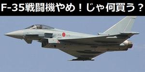 F-35戦闘機は買わないことになりました。 んじゃ何買う?