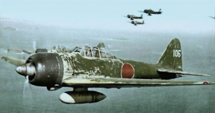 Mitsubishi_A6M3_Zeke_Model_22_1943