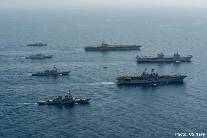 Three-Aircraft-Carriers-Meet-Up-in-the-Gulf-of-Aden