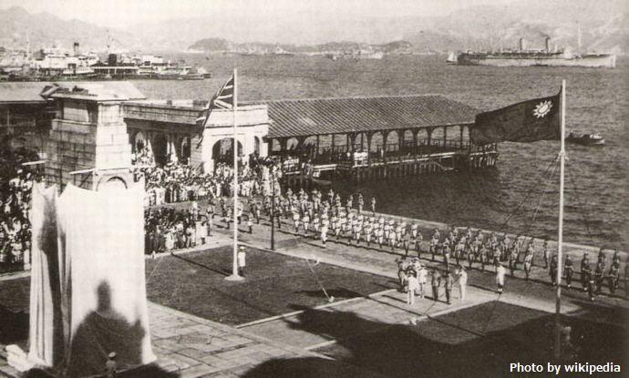 1945_liberation_of_Hong_Kong_at_Cenotaph