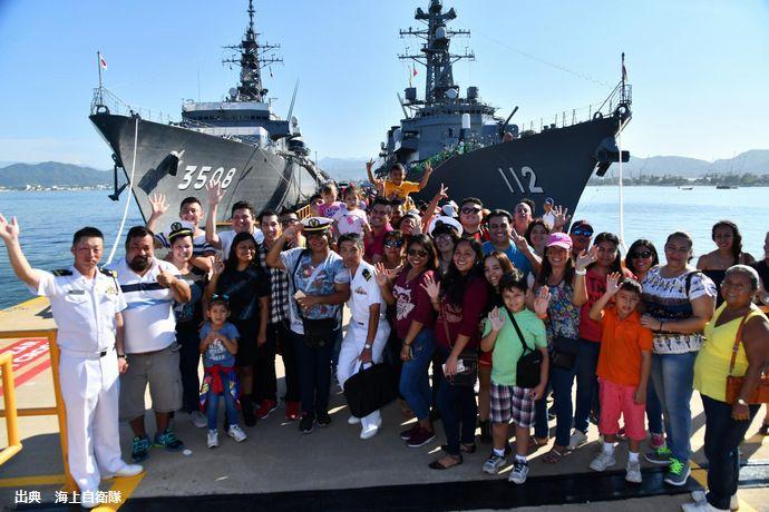 海自遠洋練習航海部隊の護衛艦「まきなみ」などがメキシコに入港、一般公開や和太鼓演奏・武道展示などを実施!