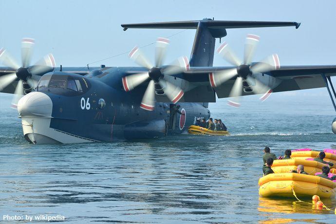 JMSDF_US-2_RescueFlyingboat_in_Exercise