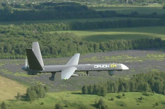 russian-orion-e-uav-in-midair